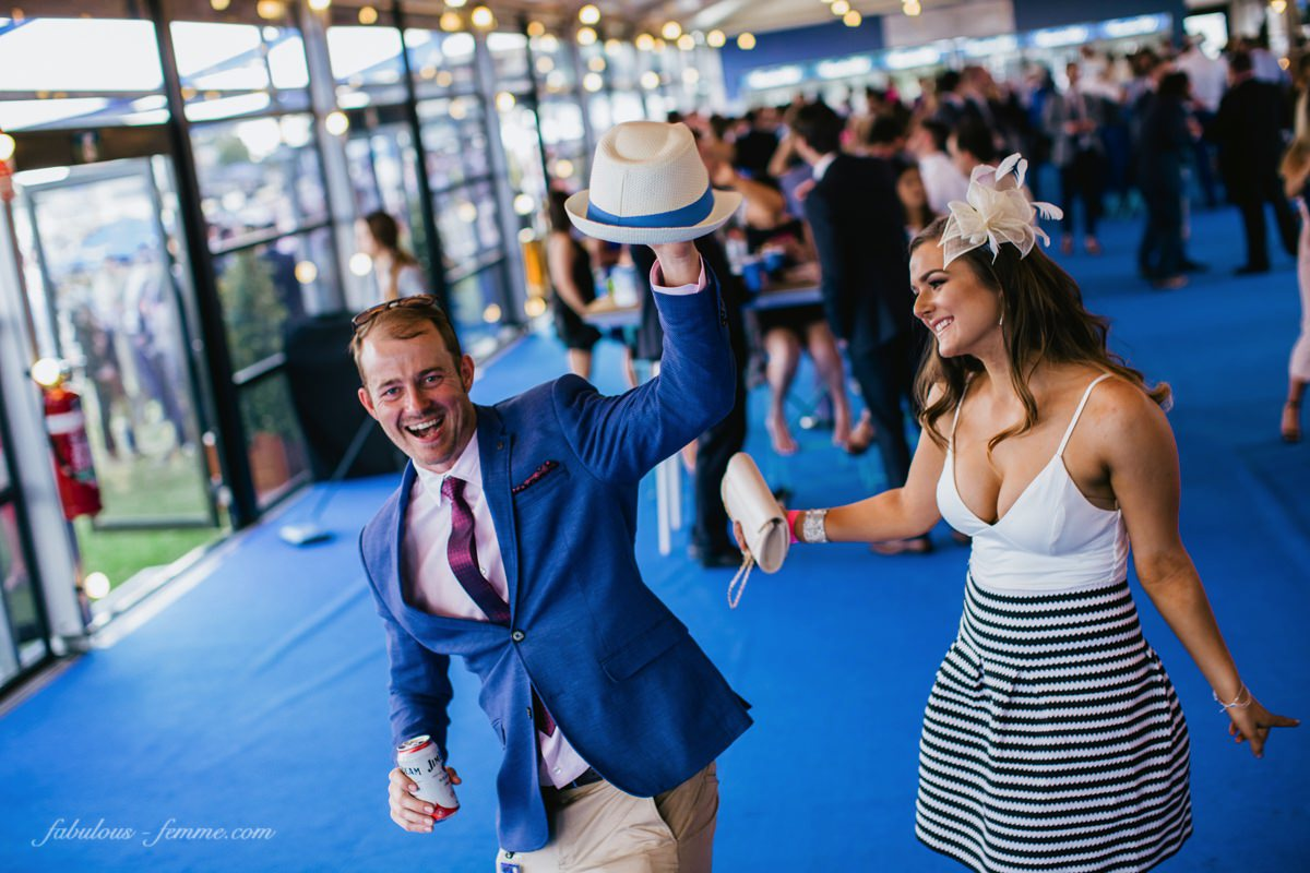 dancing at the melbourne races - young members area at caulfield - events photography in melbourne