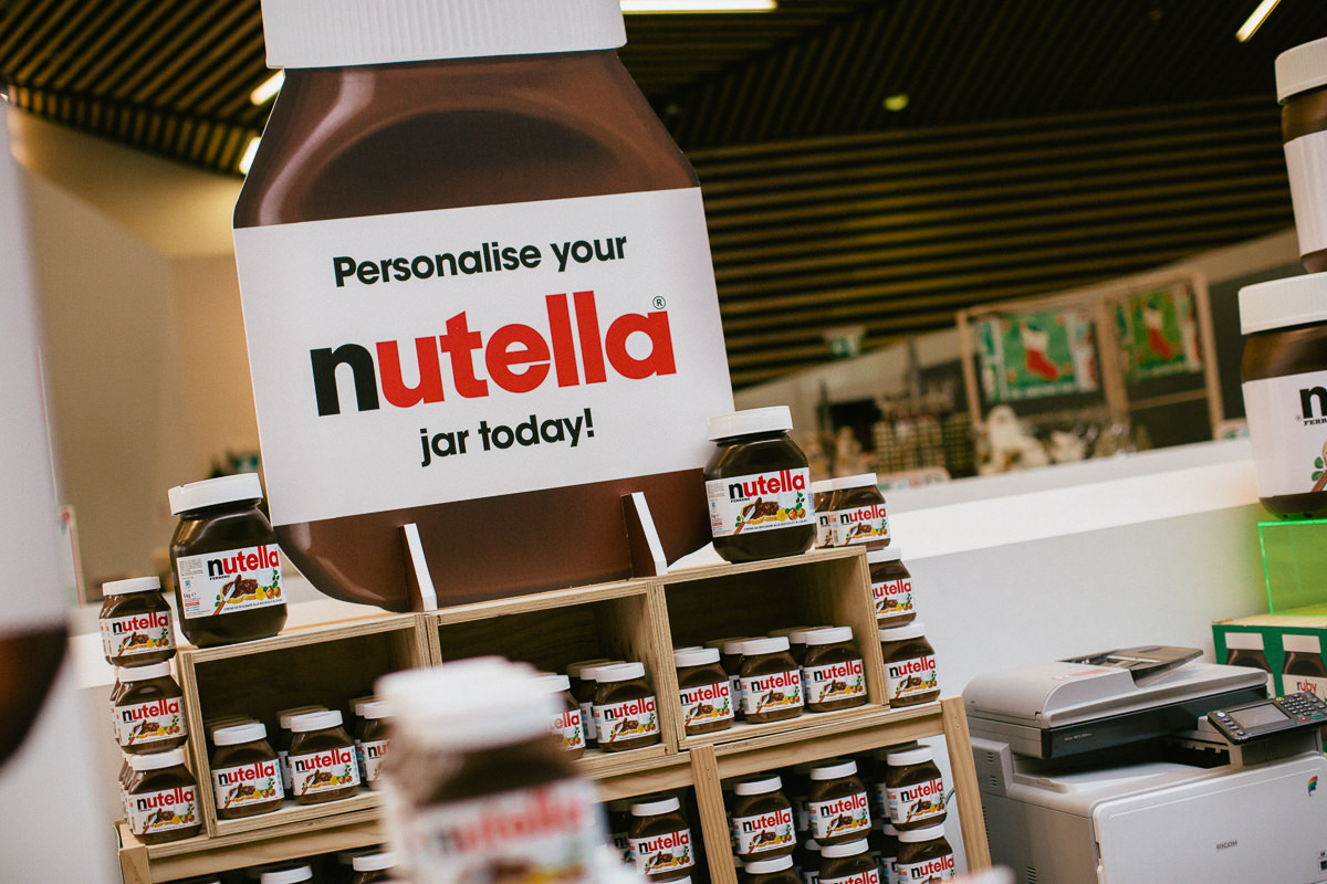 personalise your nutella jar - melbourne