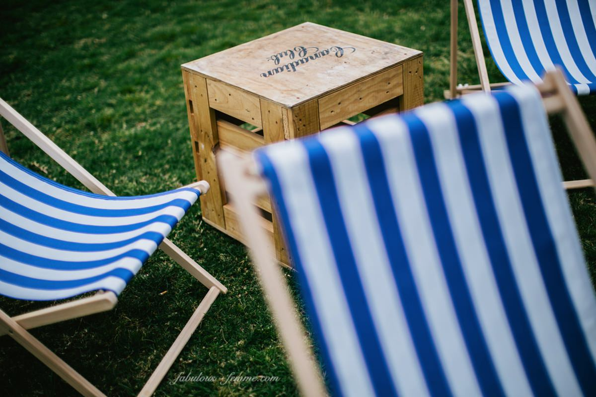 styling an event - tables and deck chairs