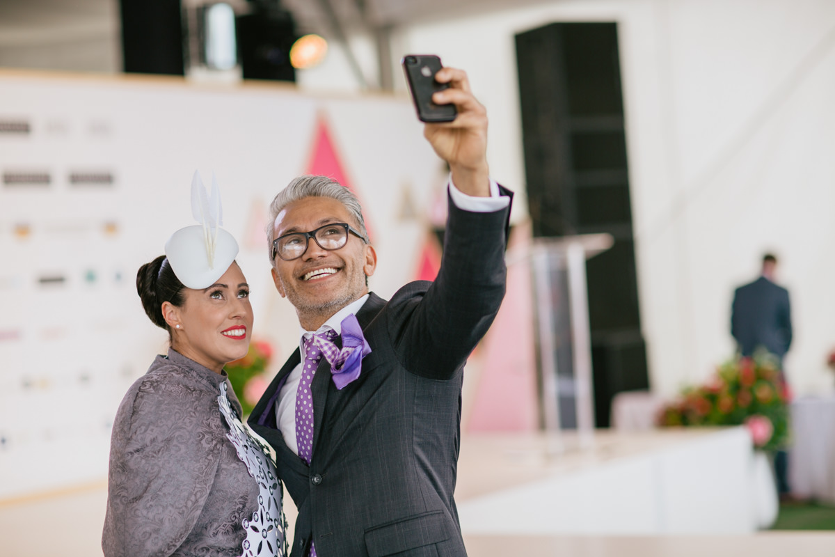 selfie time - spring racing fashion  fun