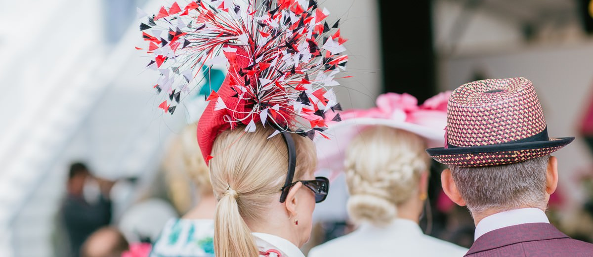 red white black - millinery