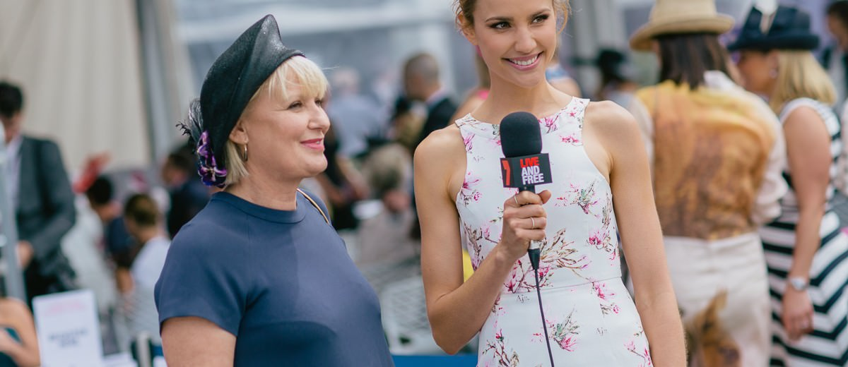TV presenter at the races