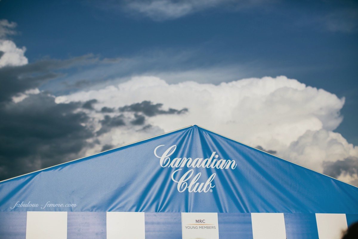 canadian club marquee - caulfield clouds moving in
