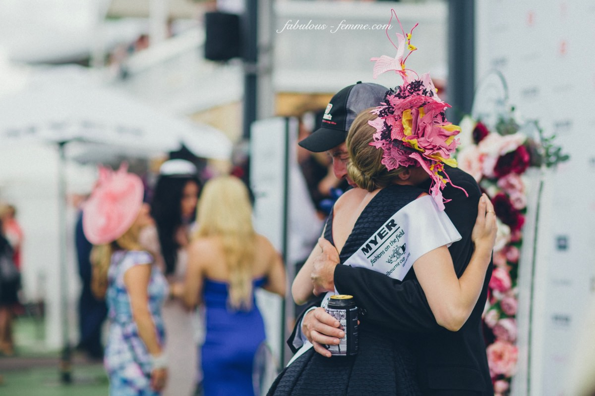 emotional fashions on the field win 2015 in Flemington - Myer Fashions on the Field Winner 2015