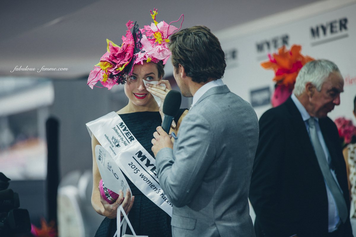 tears - emotional win at the Fashions on the Field in Flemington, Melbourne today