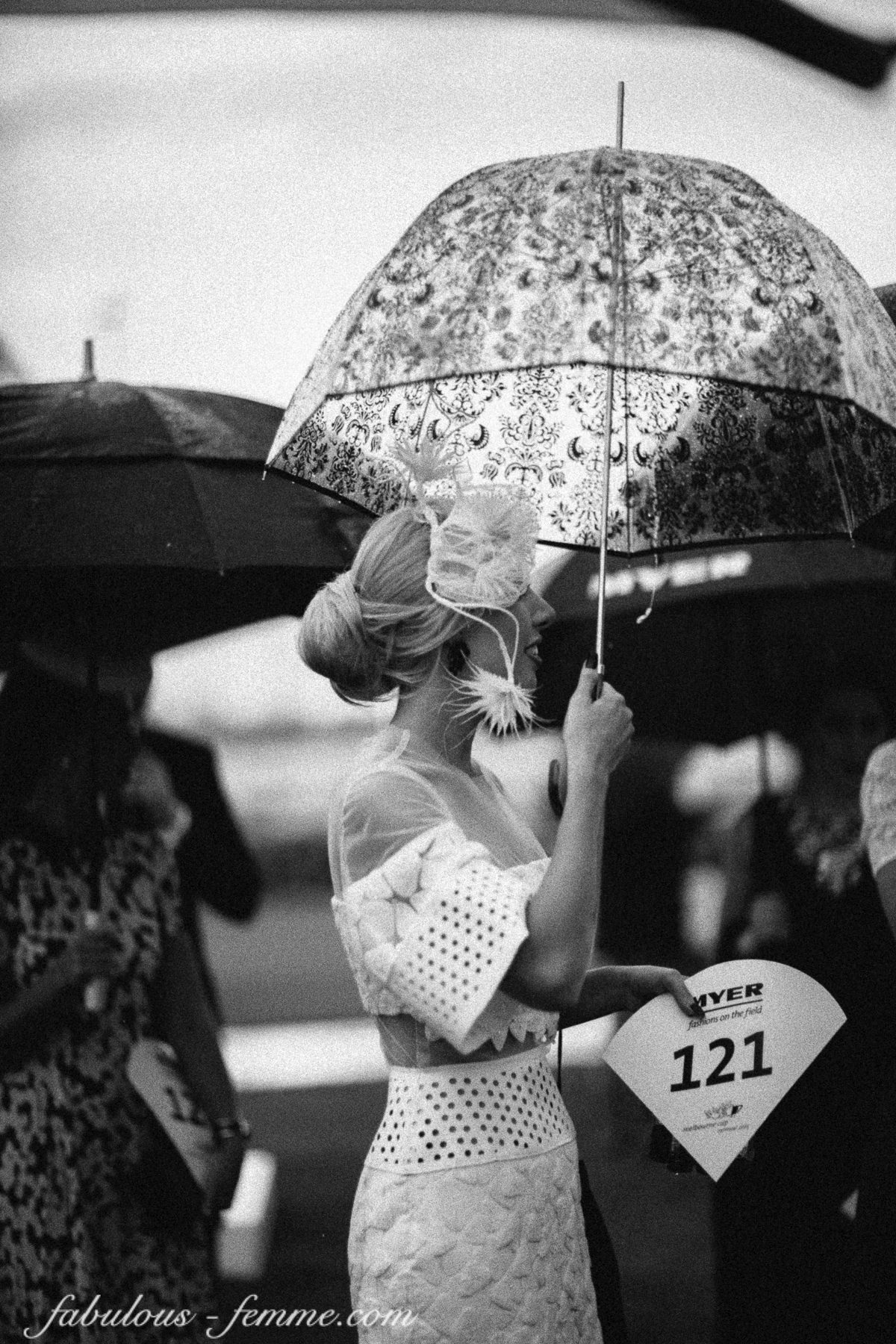 commercial events photography - melbourne Cup in rain