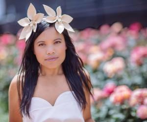 creative flower headband for melbourne spring racing carnival 2016