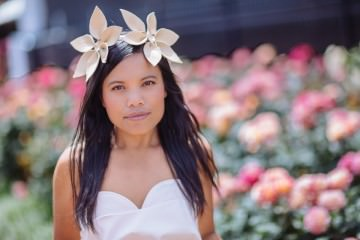 creative flower headband for melbourne spring racing carnival 2016