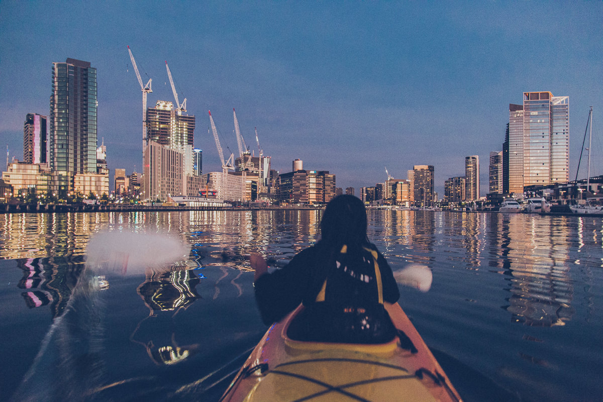 paddling in melbourne - kayak trips adventure