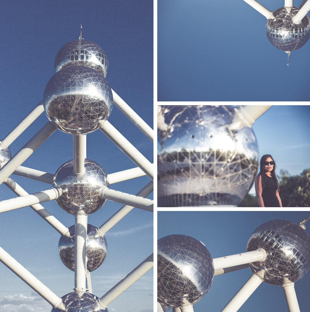 atomium in brussels - Belgium - creative photography