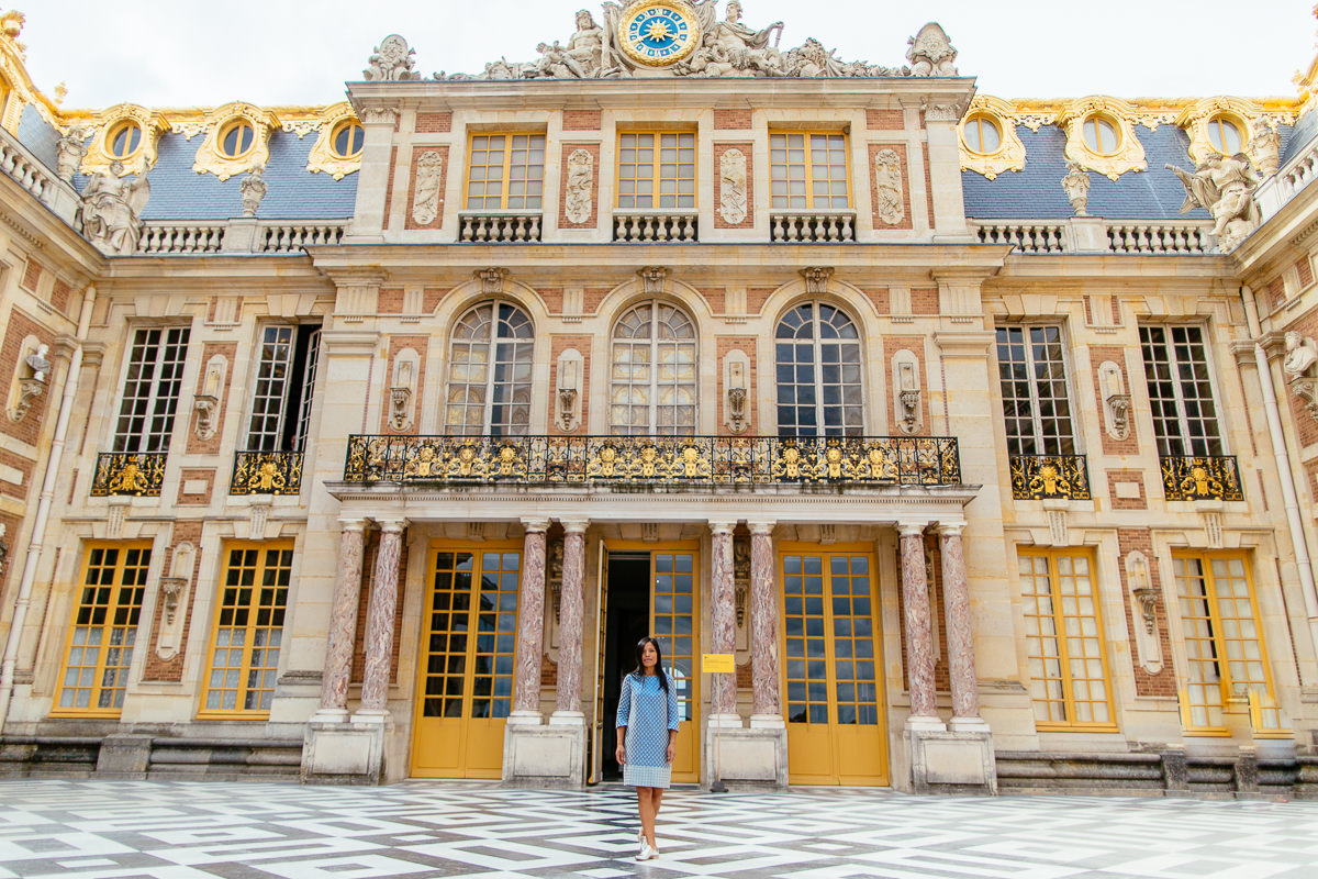 castle entrance in versailles