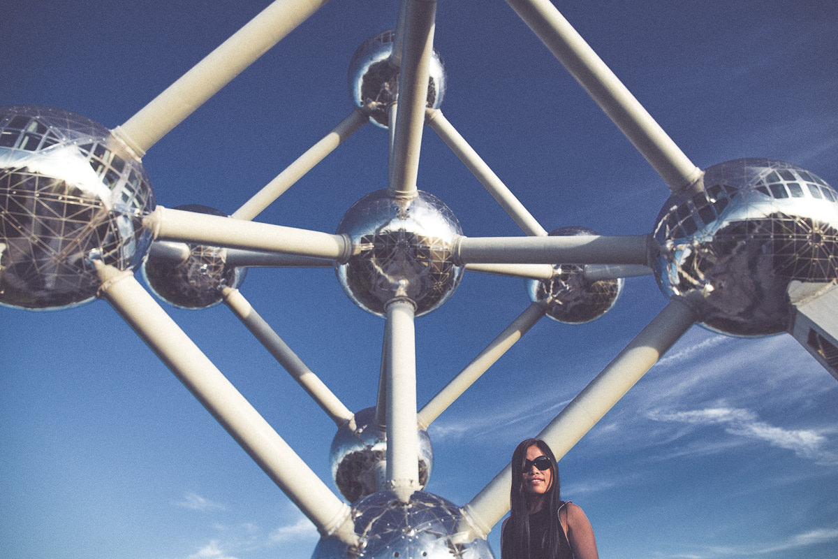atomium in europe - brussels - creative photo
