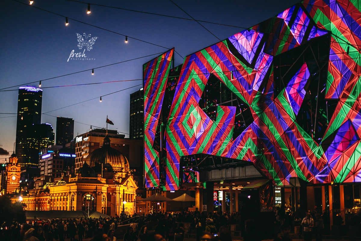 best photo of the Melbourne White Night 2016 - Federation Square