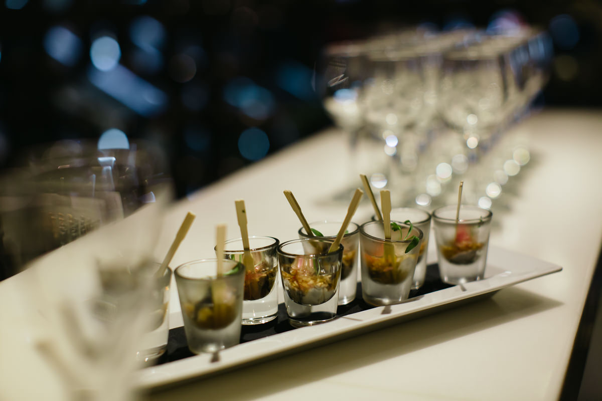 Food at F1 event party - launch of Chandon & McLaren Honda