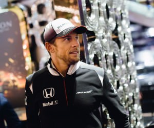 Jenson Button - Portrait at Atrium in Crown Casino - Chandon & McLaren Honda Sponsorship