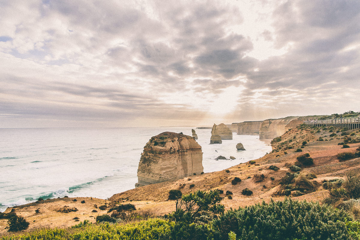 sunset at the 12 apostles in victoria - travel blog