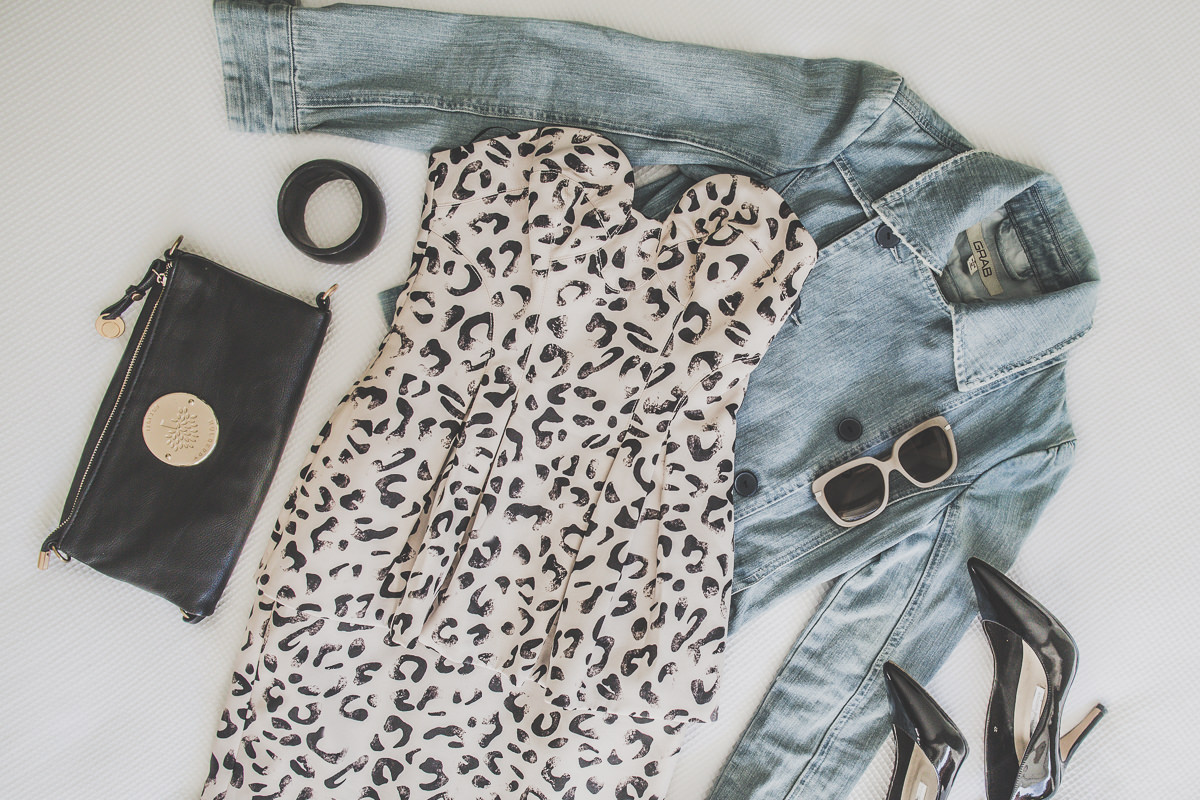 Leopard print - denim combination