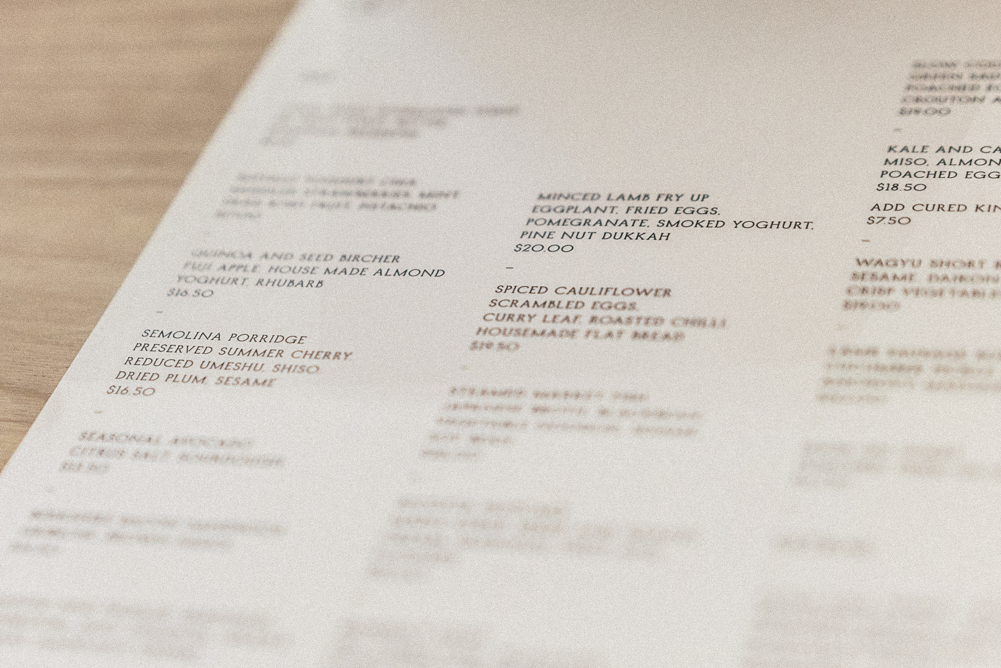 best brunch menu melbourne