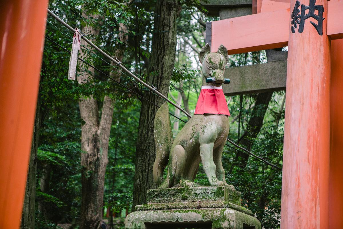 kyoto temple statue