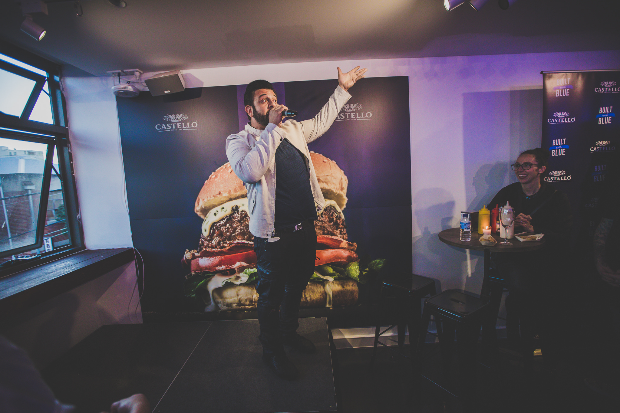 adam richman presenting - pr event photography melbourne