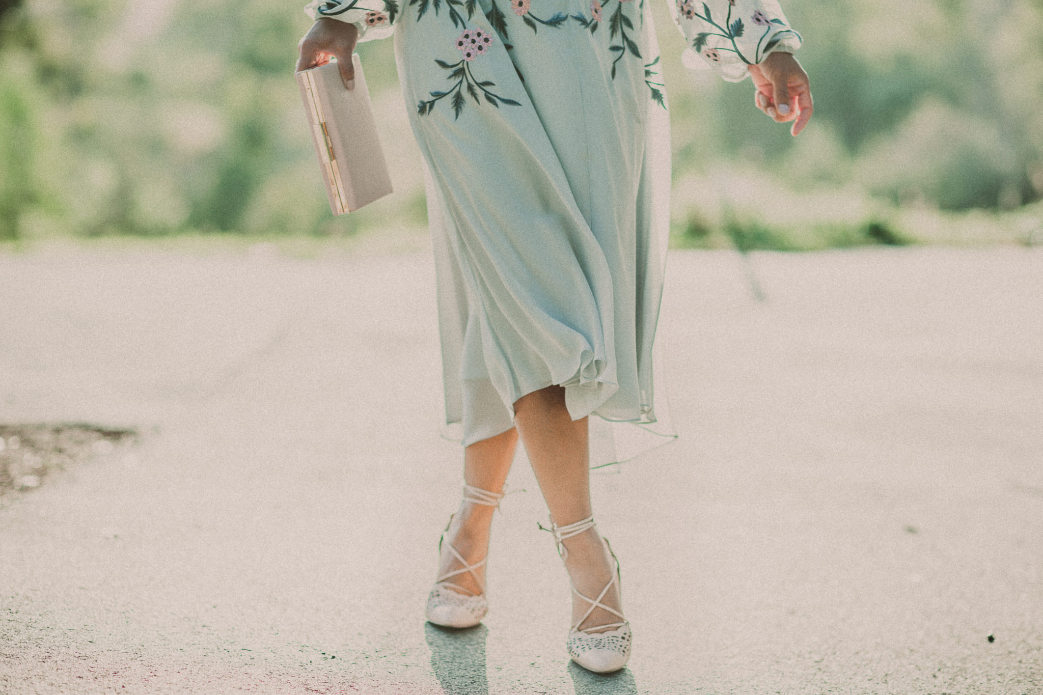 summer dress - high heels - vintage style photography