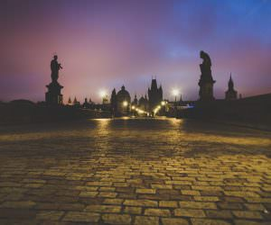 Prague bridge by night - amazing photography