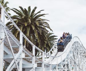 fun at luna park - scenic railway rollercoaster