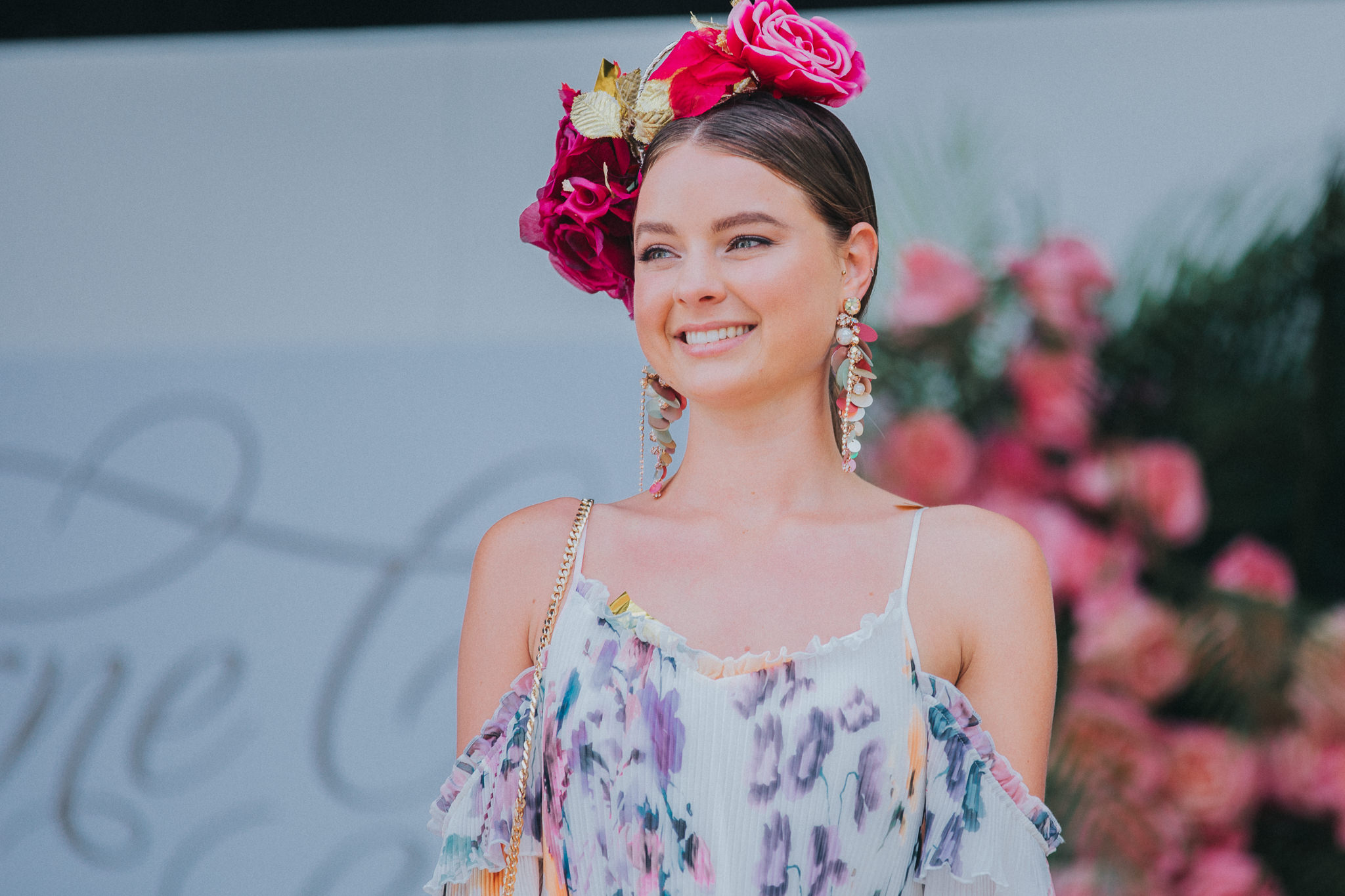Model at the Melbourne Cup 2017