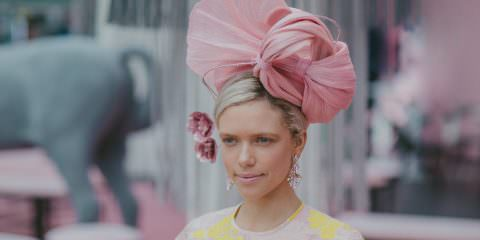 millinery - winning piece 2017 at the Melbourne Cup Fashions on the Field and Victorian Final