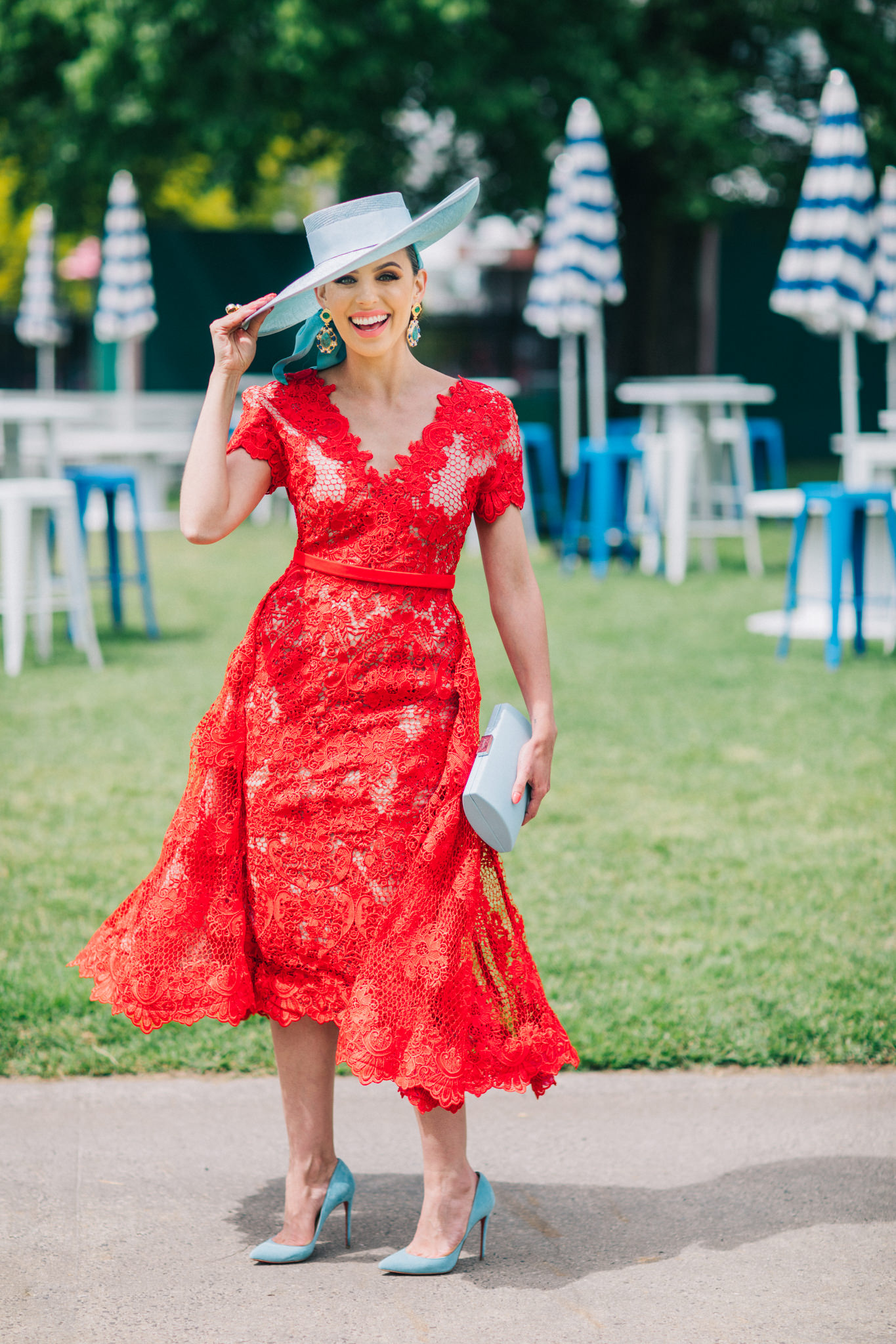 Red Lace Dress - Fashions on the Field Winner 2017