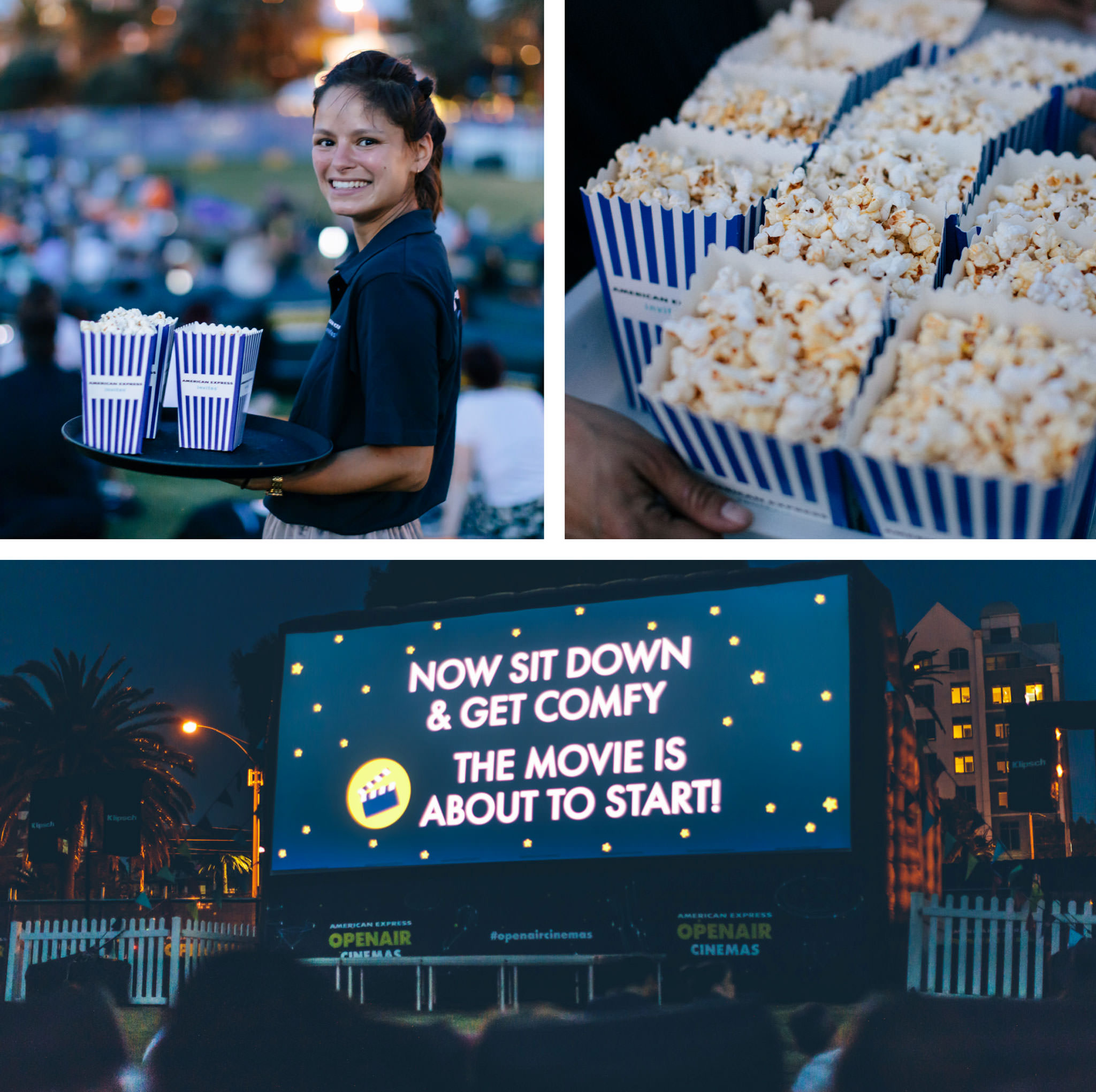 popcorn and outdoor movie in Melbourne