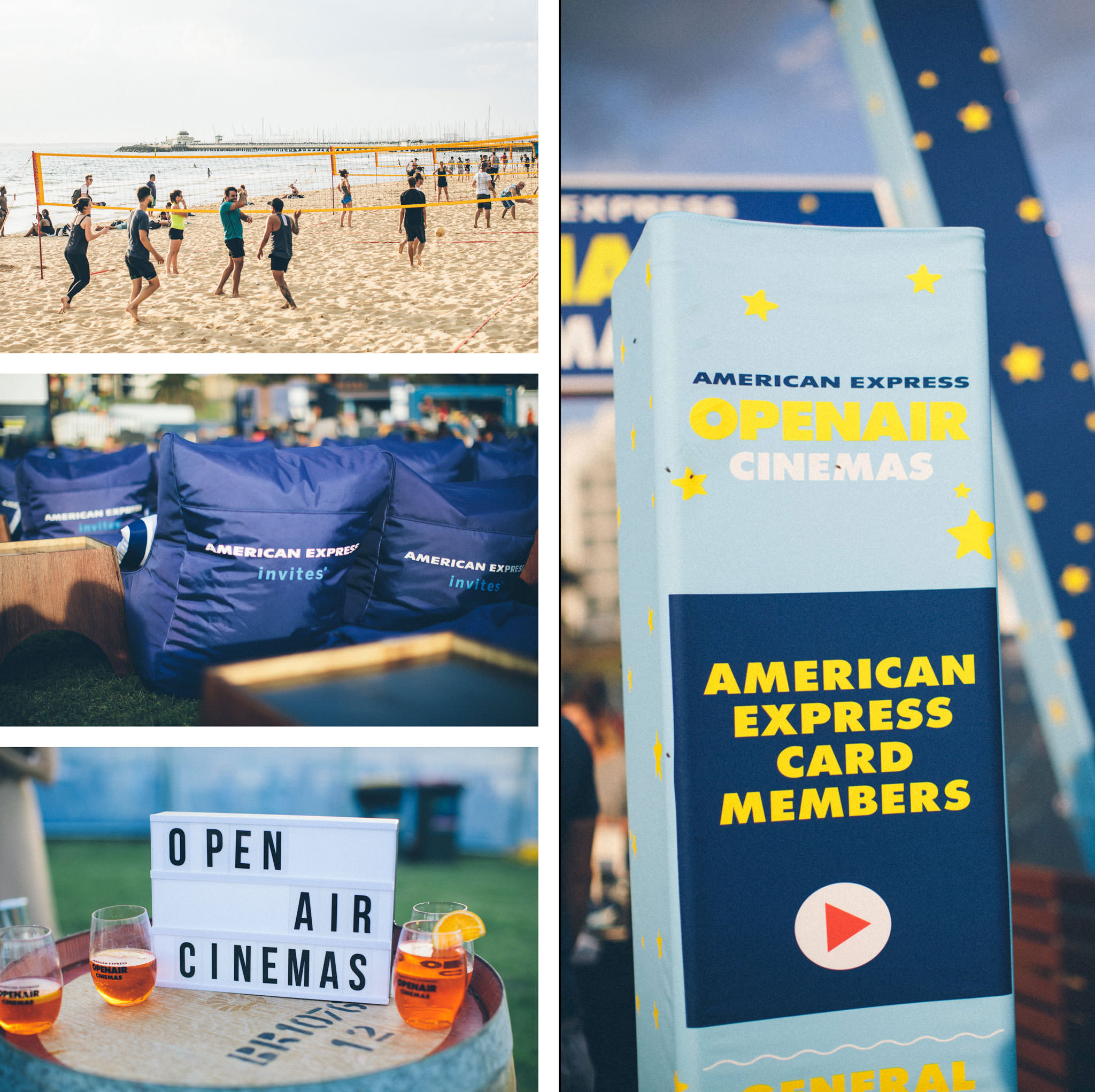 st kilda open air - beach and cinema