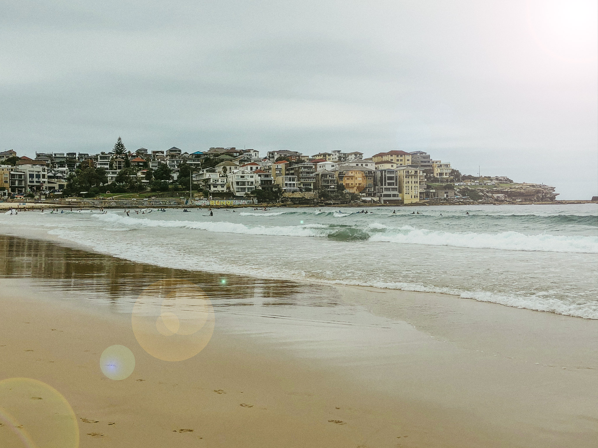 bondi beach cloudy