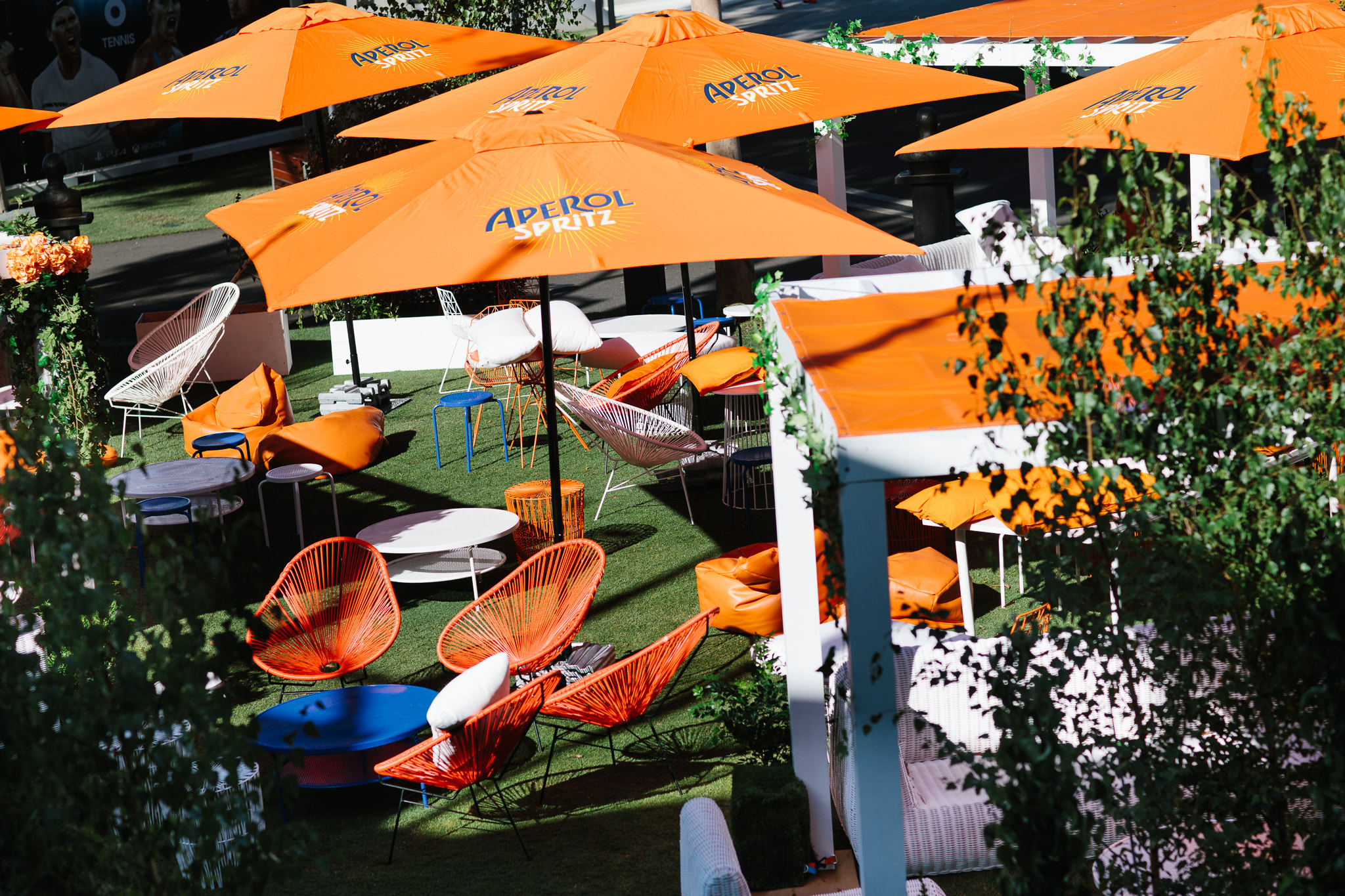 aperol spritz bar at event
