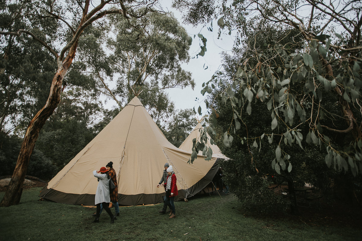 tipi tent in the forest - festival