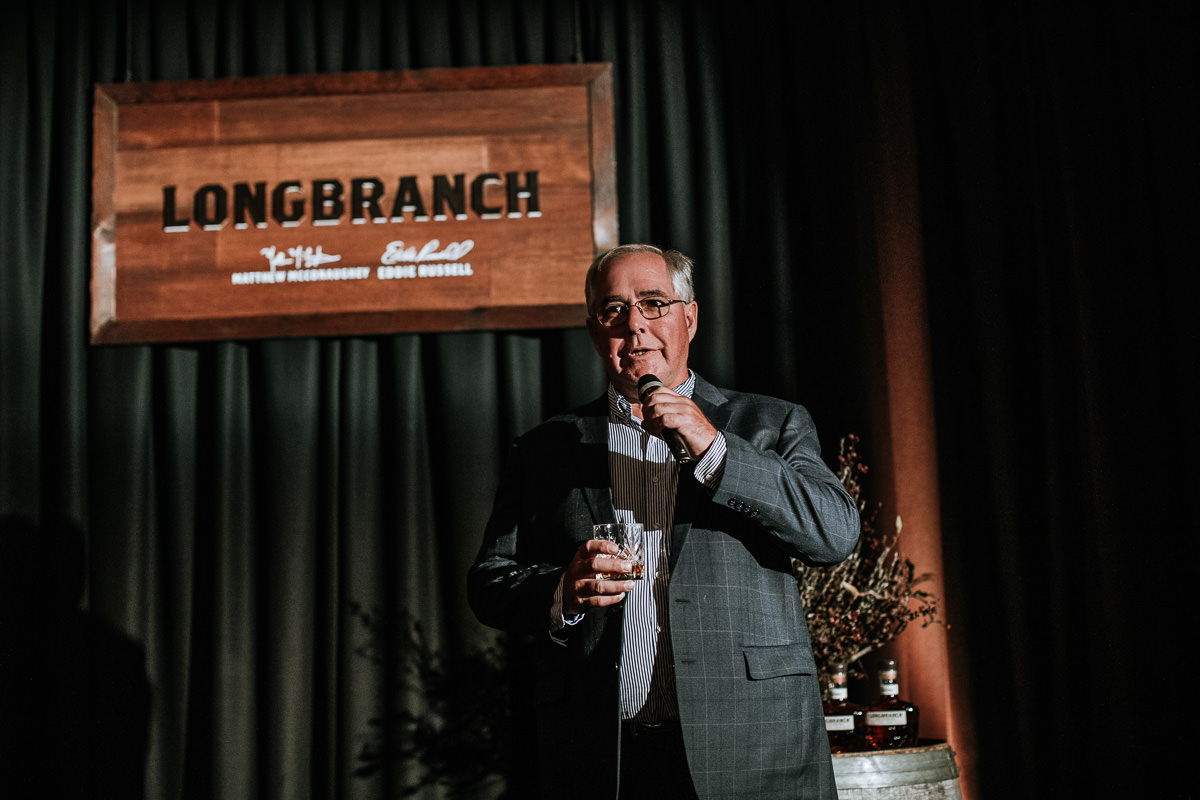 Master Distiller Eddie Russell at Longbranch launch in Melbourne