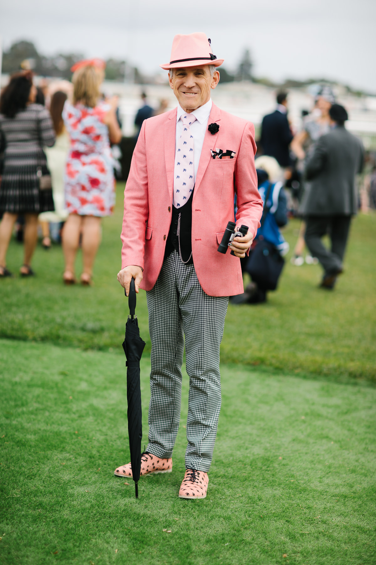 stylish gentlemen at the races