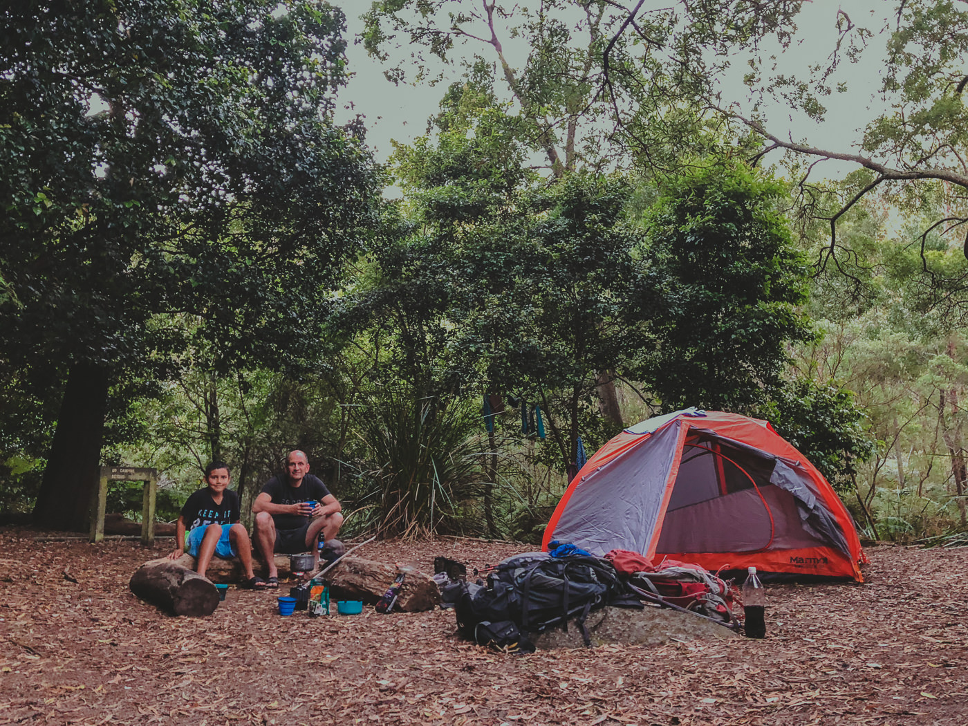 not glamping but camping with kids