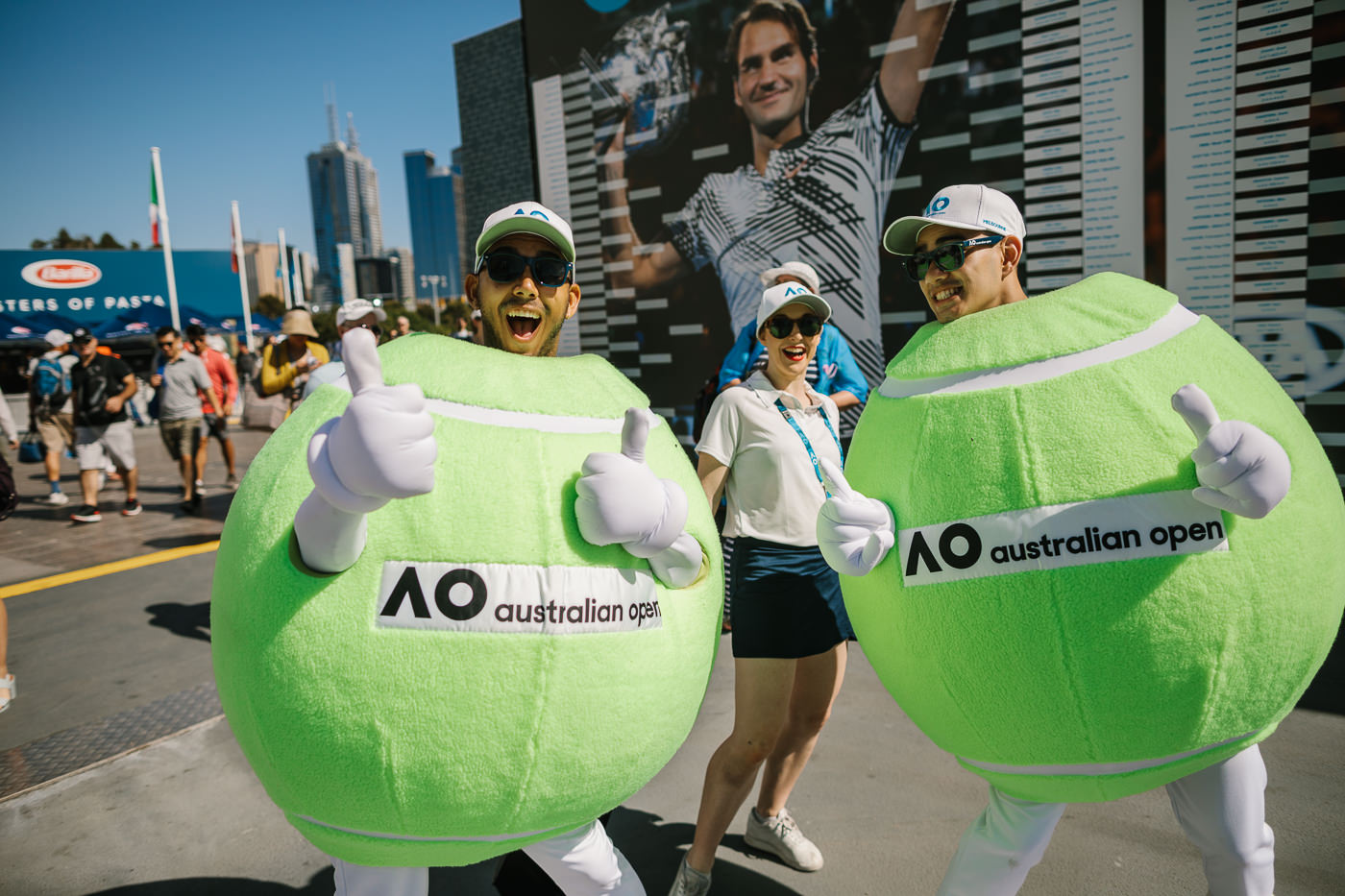 ball mascot at the australian open
