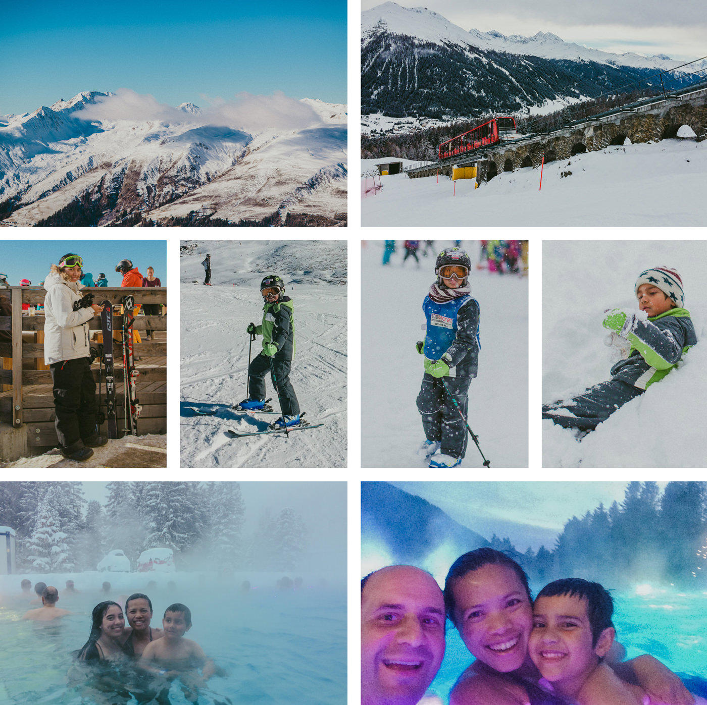 fun in davos - skiing with kids - travel adventures
