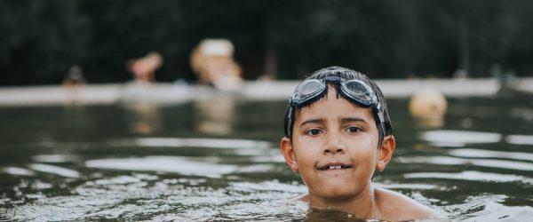 outdoor swimming in free pool in Marktrewitz - Marktrewitz Schwimmbad