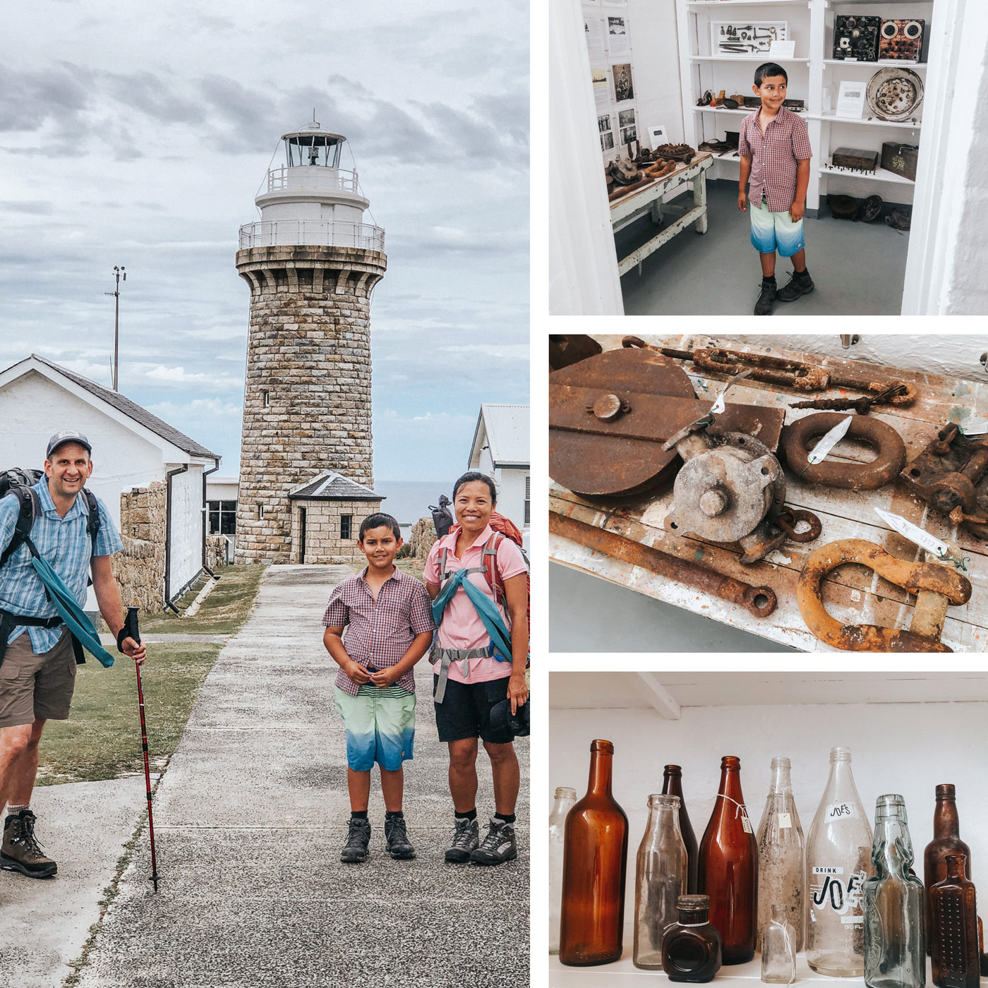 family trip top the lightstation - luxury accomodation in the wild
