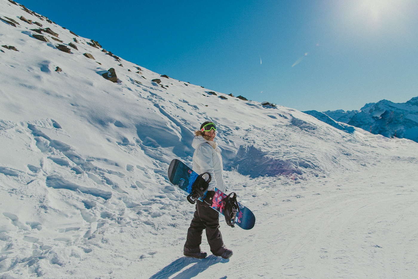 snowboarding start