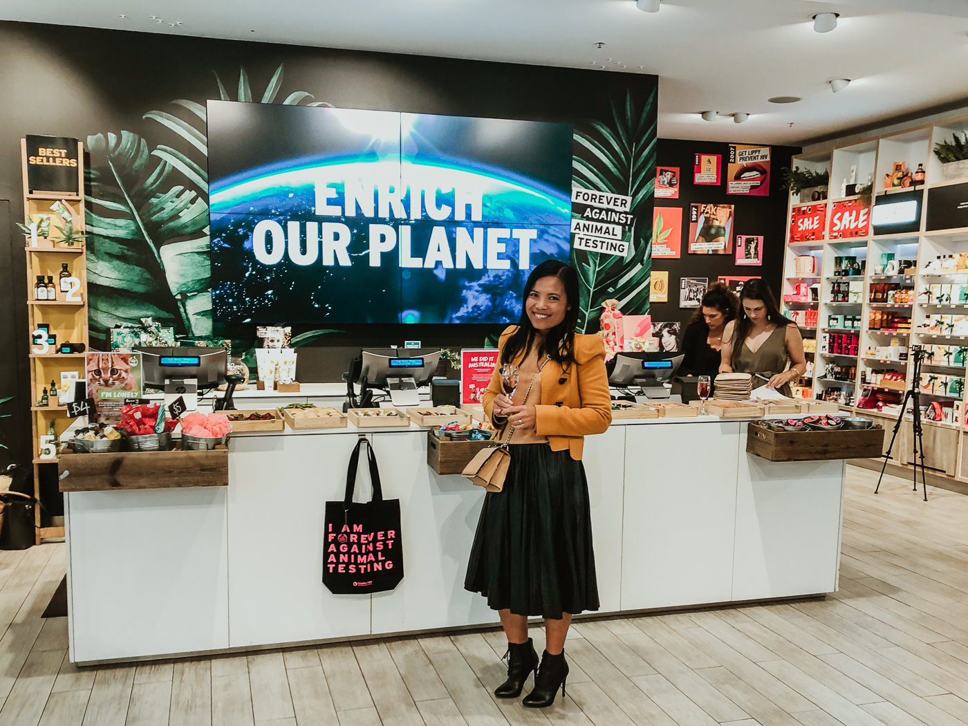 Body shop - shea butter workshop in Melbourne