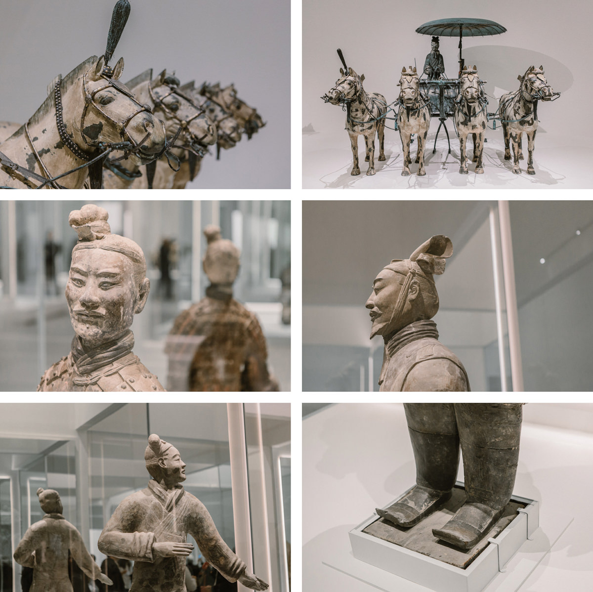 Collage of Terracotta Warriors