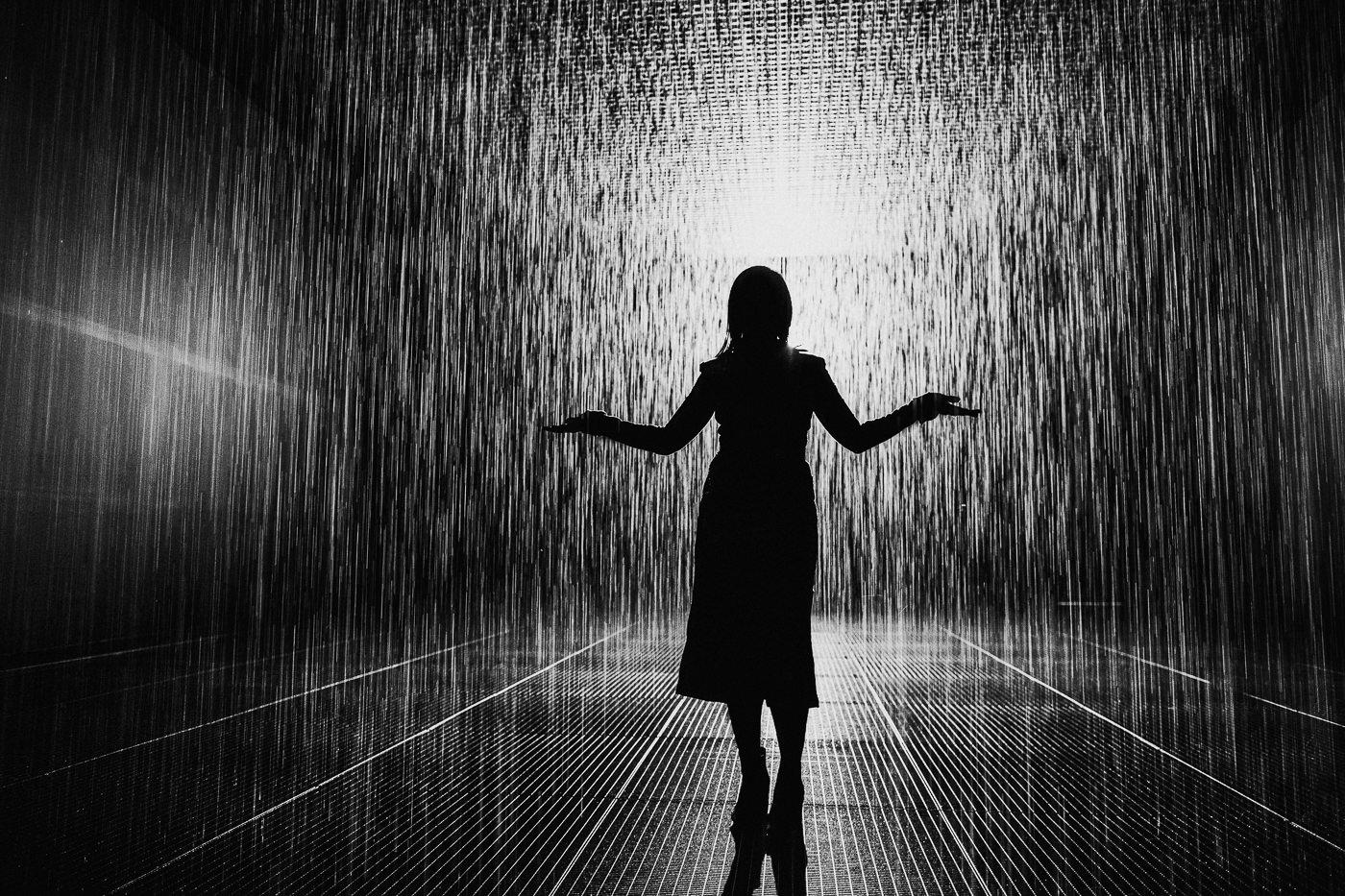Rain Room picture silhouette
