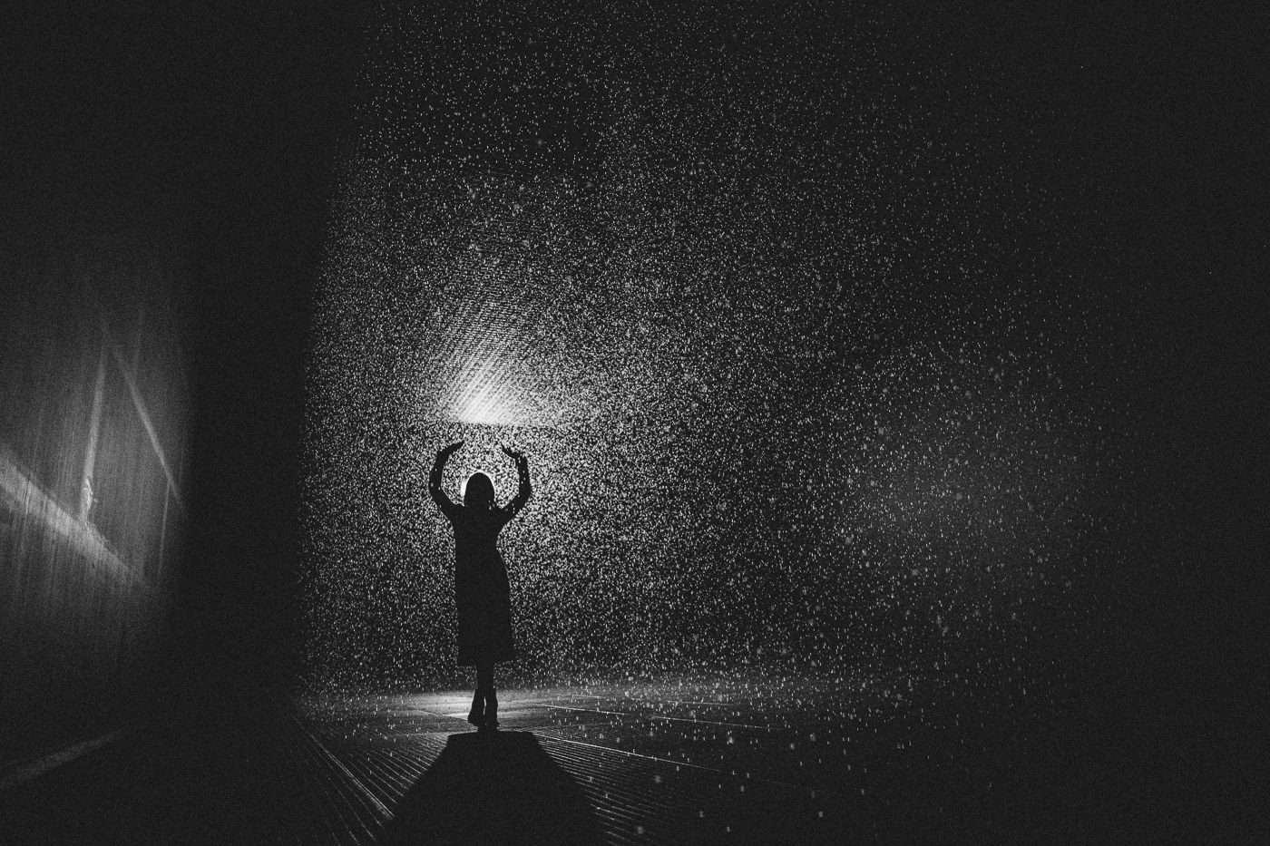 In the rain room - art installation by random international in Melbourne - by Jackalope