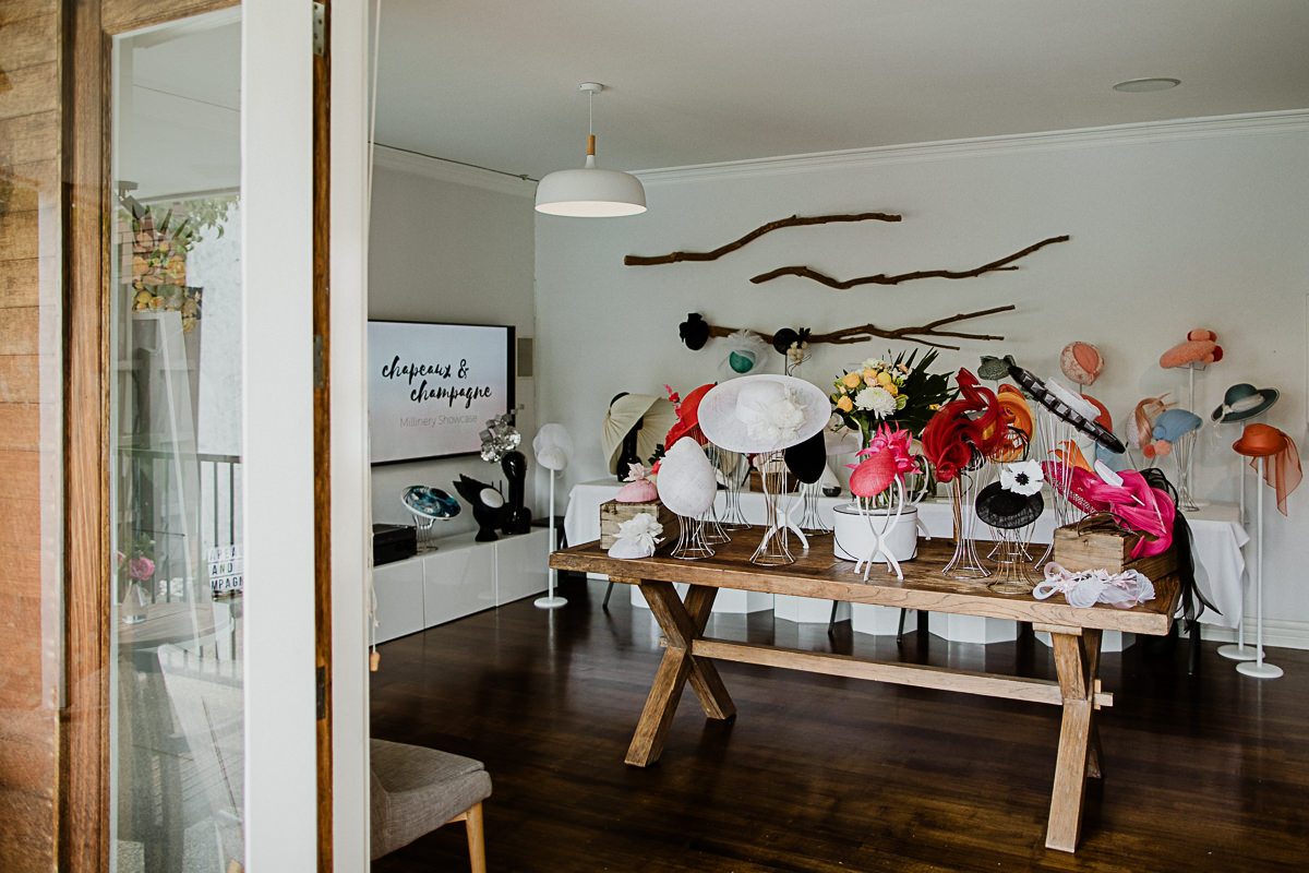 setup of millinery table