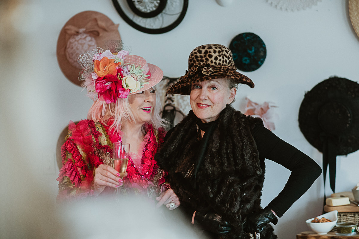 ladies at millinery event