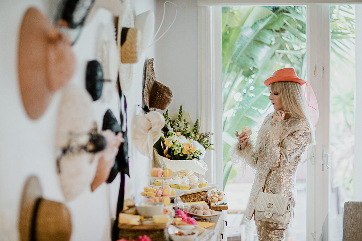 guest at millinery event